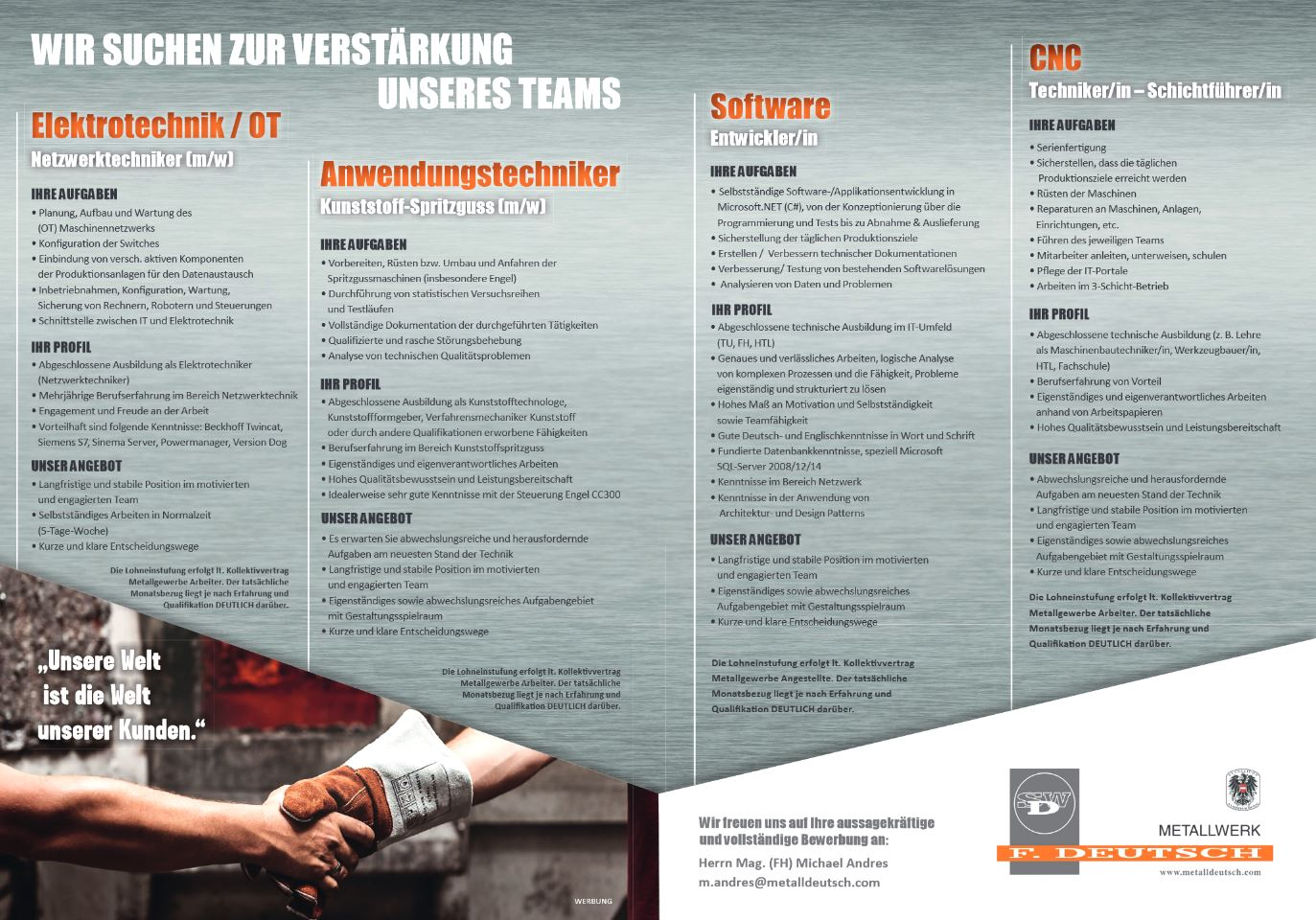 MetallwerkDeutsch auf Jobinator.at